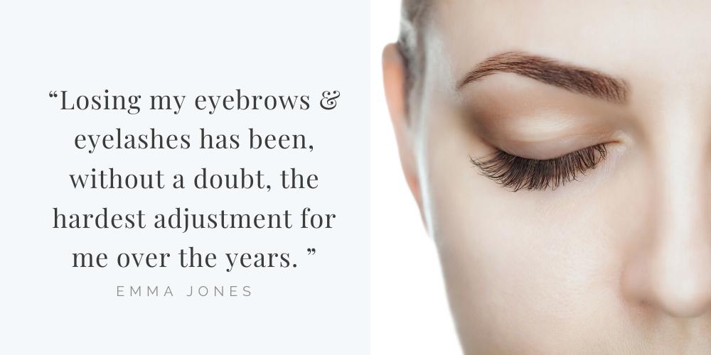 false eyelashes and false eyebrows