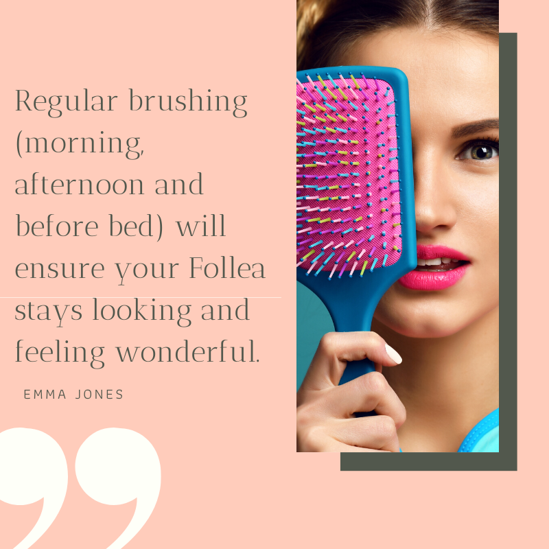remember to brusg your Follea aspire hair blog