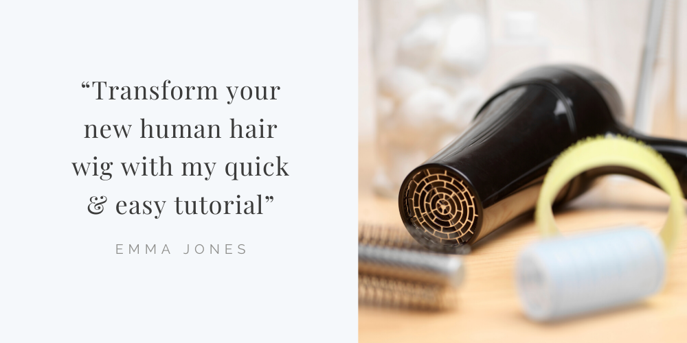 video tutorial - how to blow dry a parting in to your human hair wig or topper