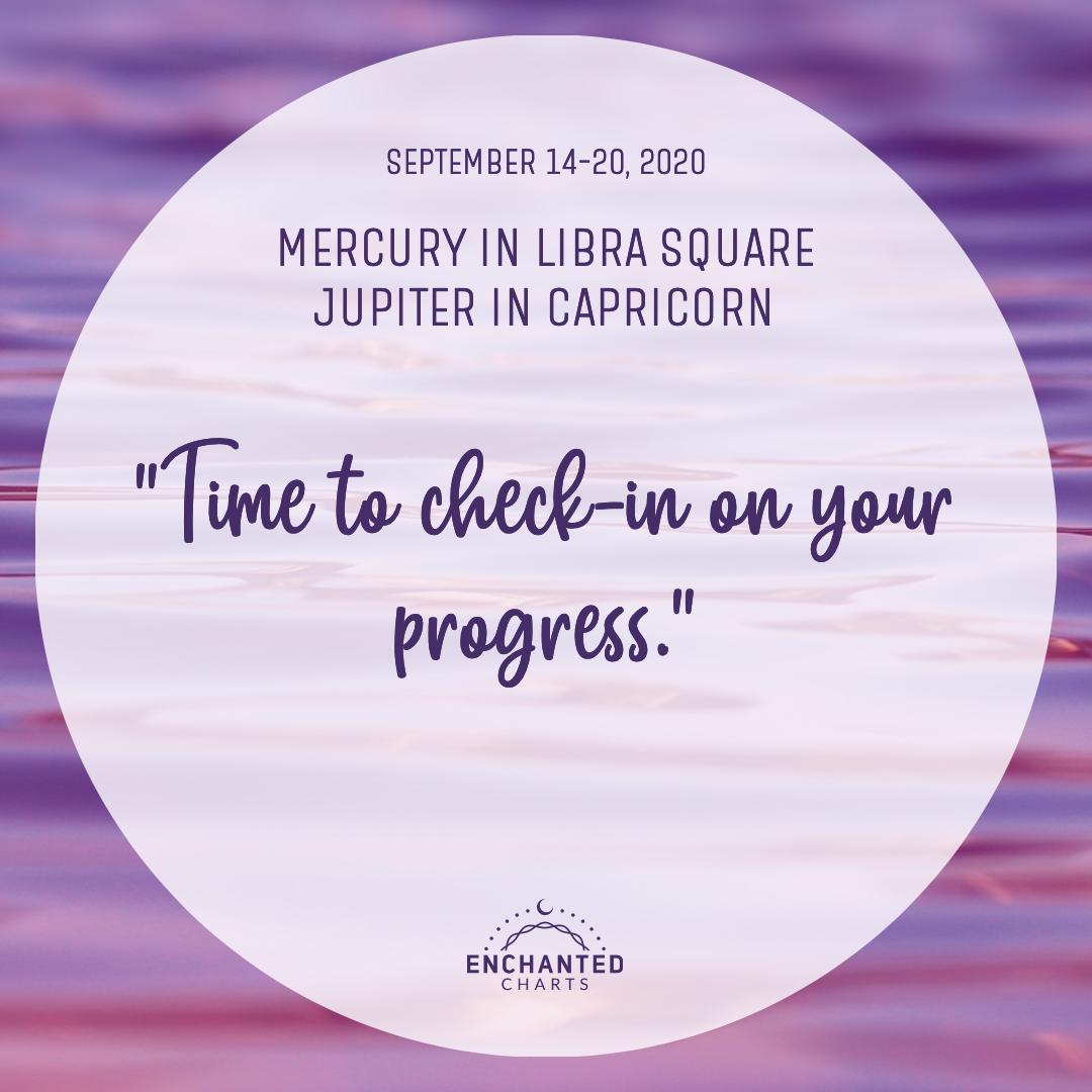 Mercury in Libra Square Jupiter in Capricorn
