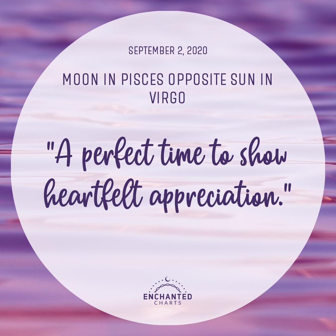Moon in Pisces Opposite Sun in Virgo