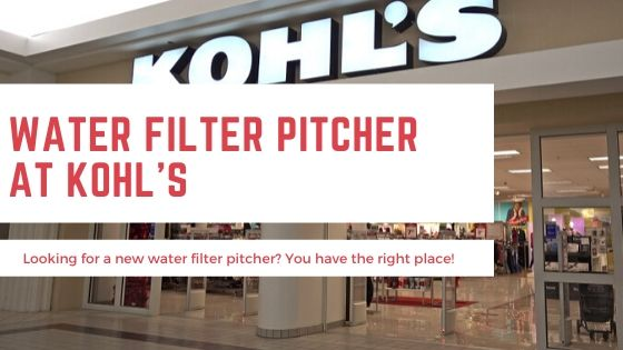 Water Filter Pitcher Kohls