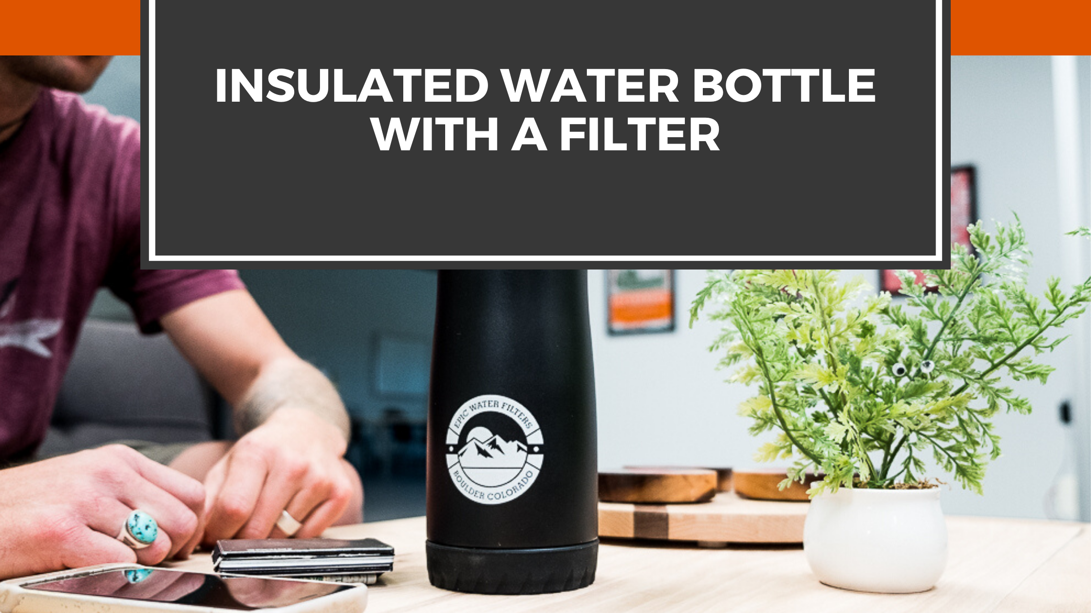 Insulated Water Bottle with a Filter