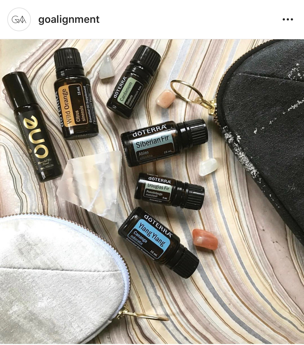 Go-Alignment Gemstone Infused doTERRA Essential Oil Clutches