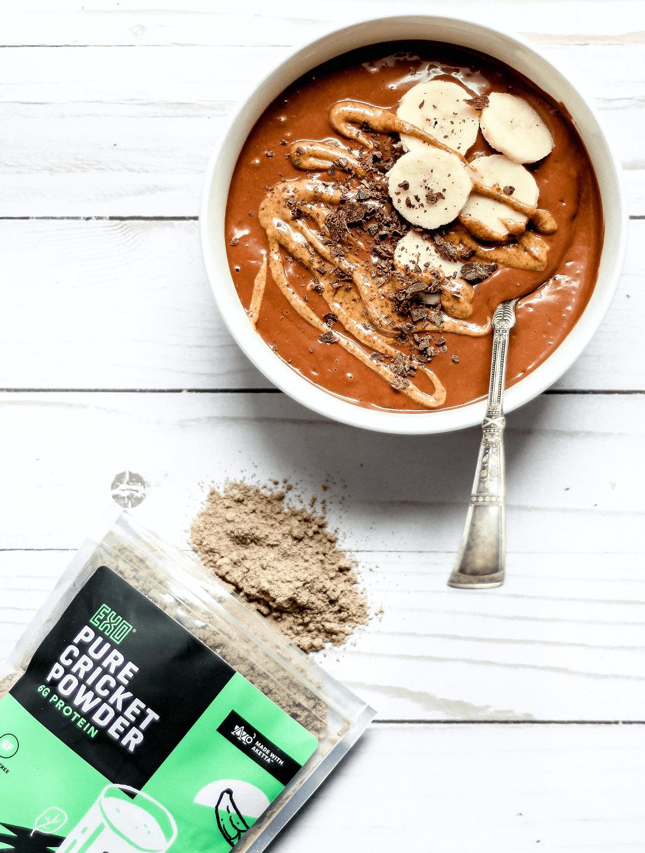 cricket protein smoothie bowl