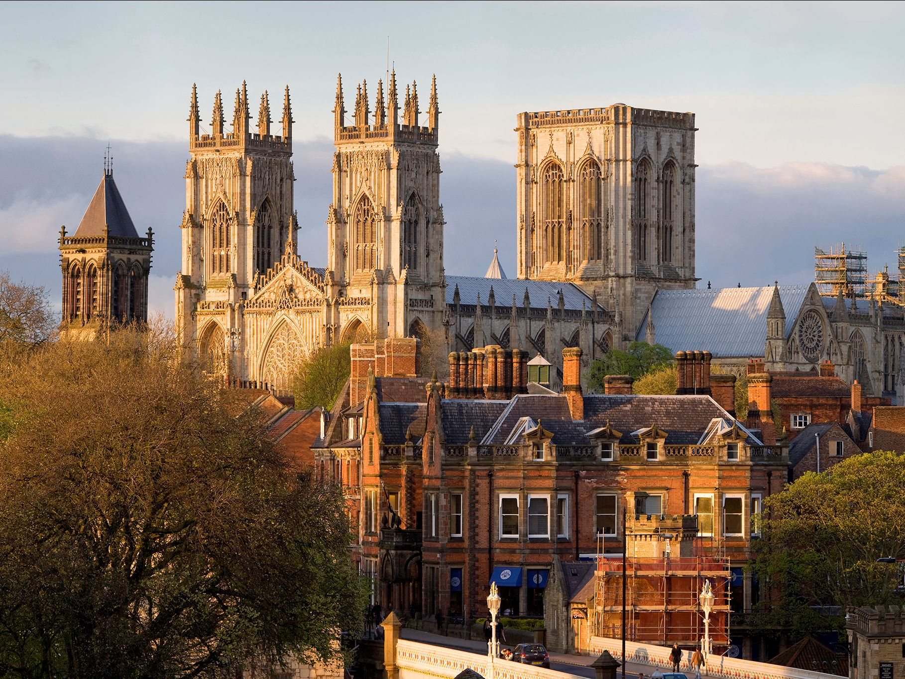york cathedral at sunset
