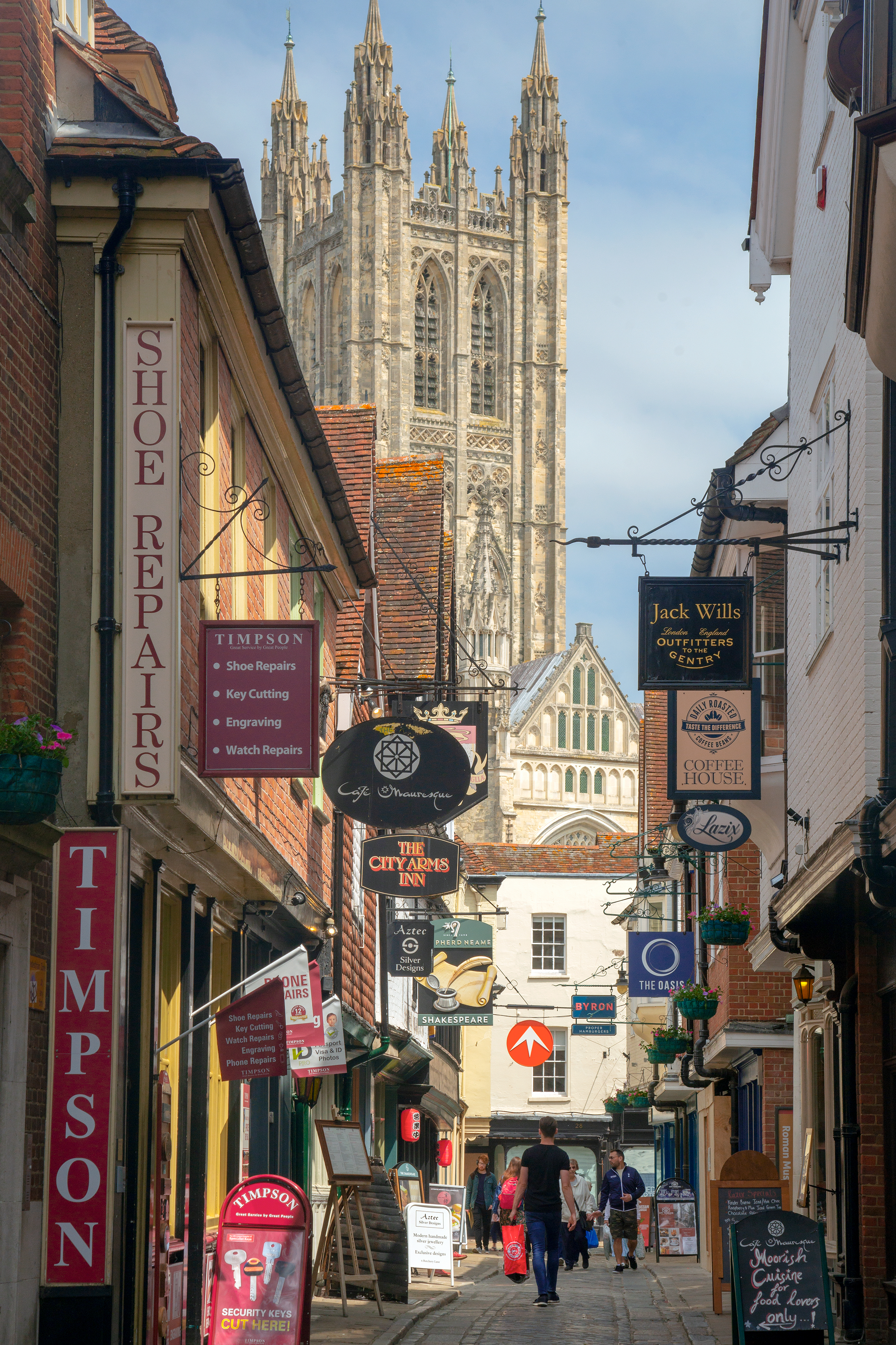 canterbury cathedral from the street