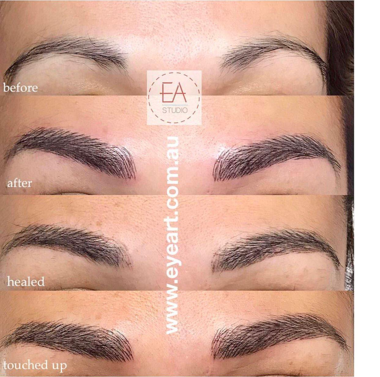Eyebrow Microblading Before and After Photos Eye Art Studio