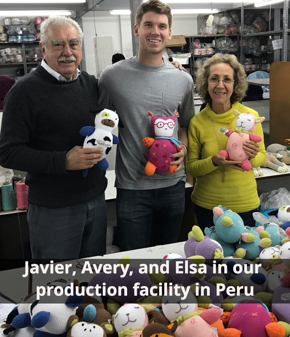 Avery with Javier and Elsa in Peru