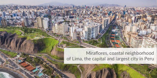 Miraflores district of Lima, Peru