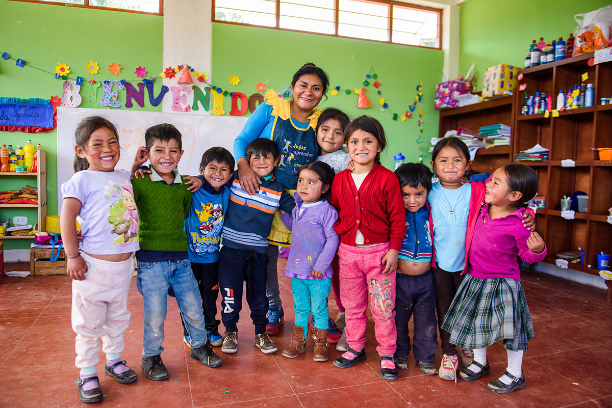 Our adopted school in Cajamarca, Peru
