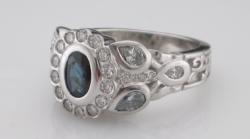 Bezel Set blue sapphire   Bezel set halo