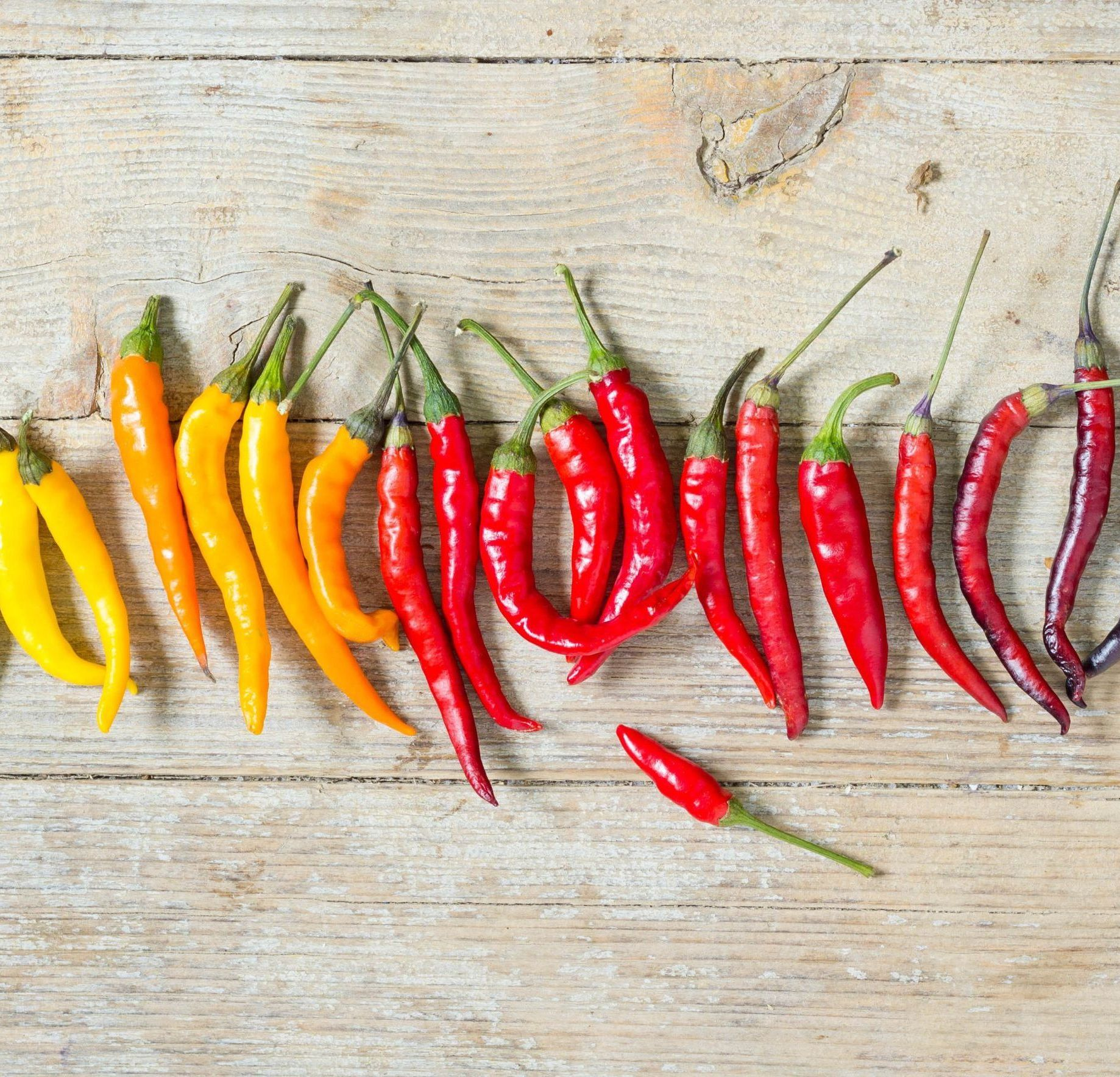 Chili Peppers Scoville Rankings