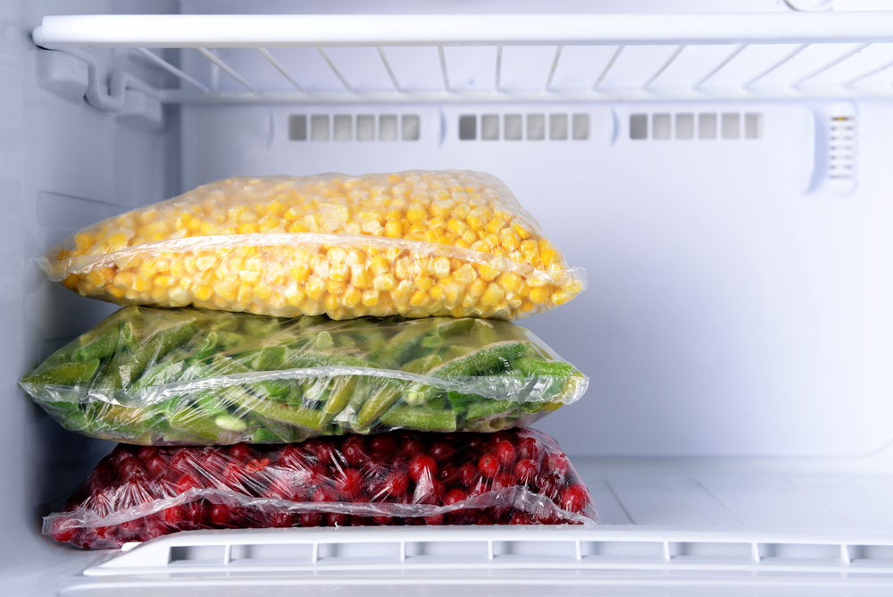 Freezing vegetables in home freezer