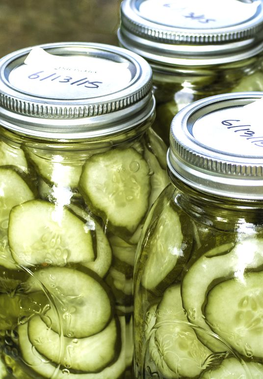 Home pickling jars with cucumbers