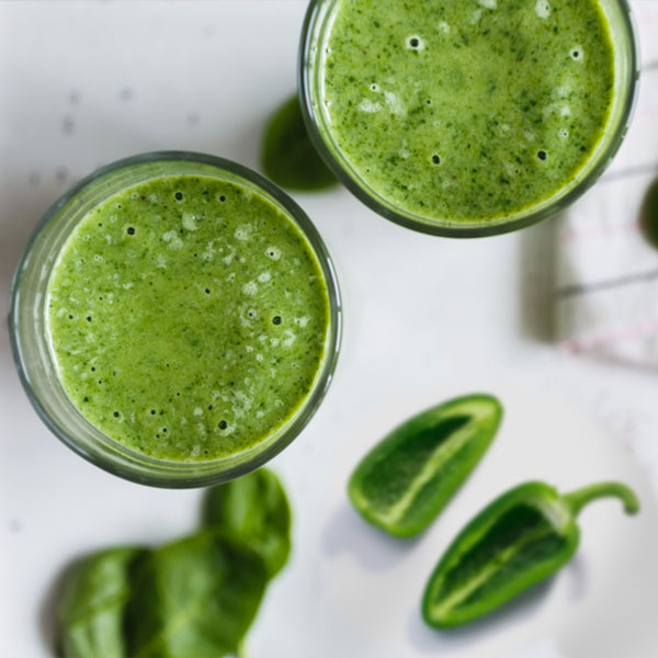 Hot Jalapeno Pepper Spinach Green Smoothie Recipe