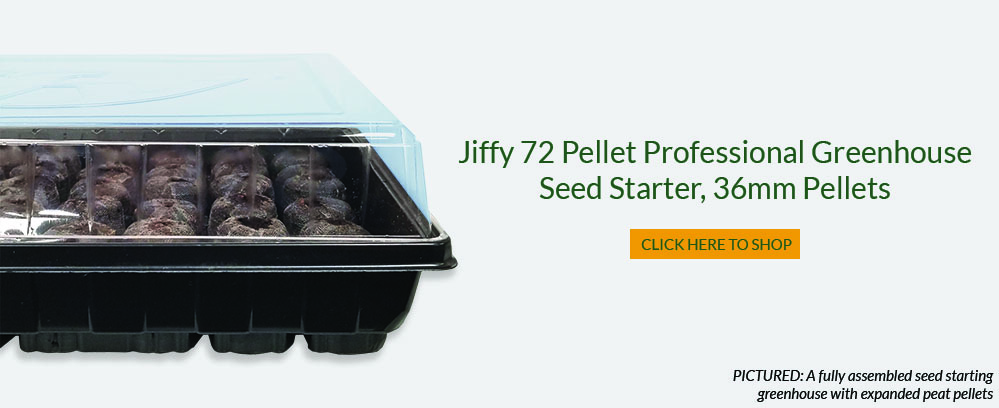 Jiffy Seed Starting Greenhouse Fully Assembled with Peat Pellet Pods Expanded