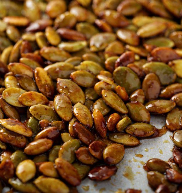 Oven Roasting Pumpkin seeds