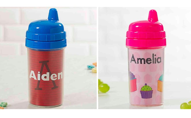Choose from a variety of styles and designs, then add their name to the label! Image courtesy of Buy Buy Baby.