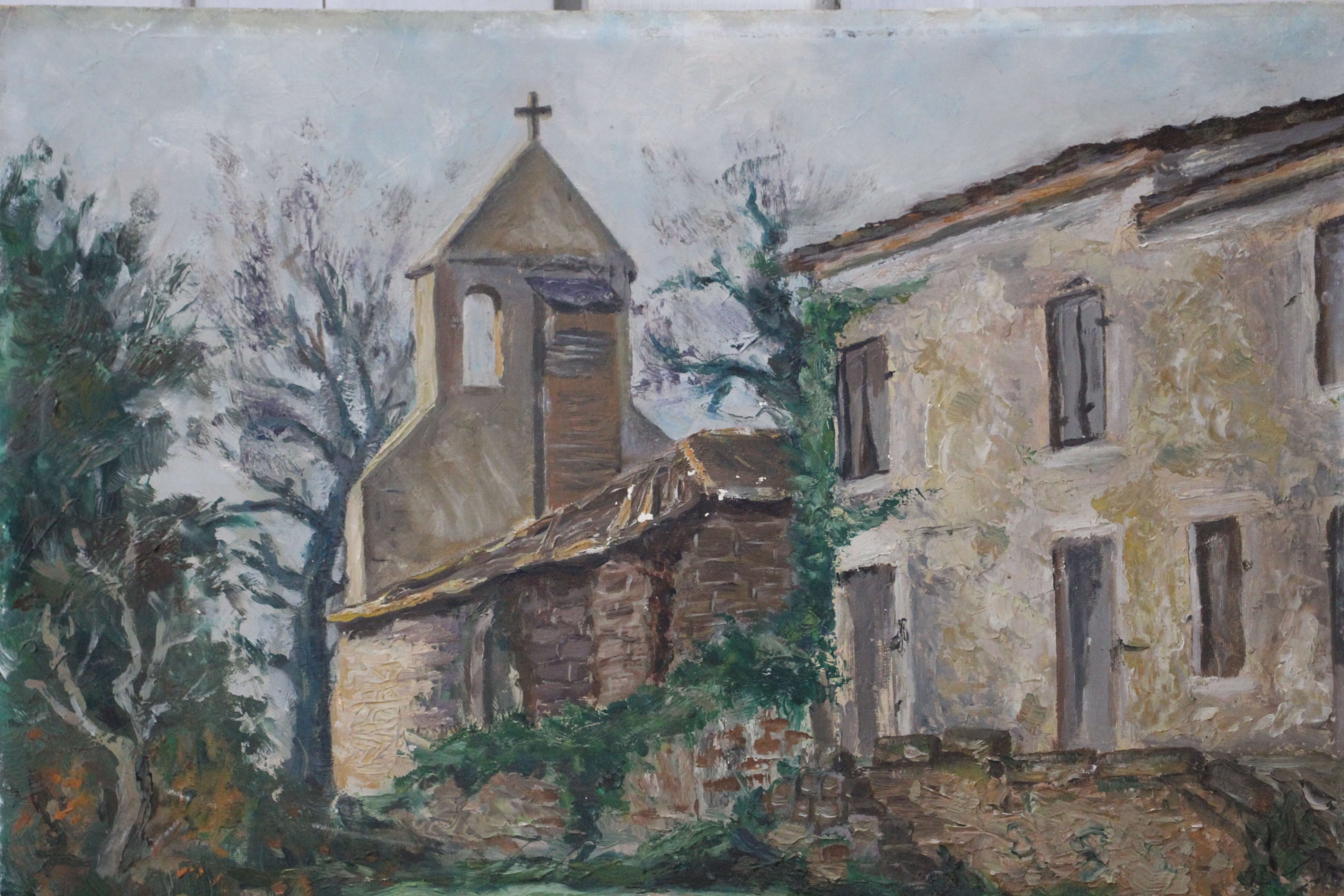 Church Oil Painting