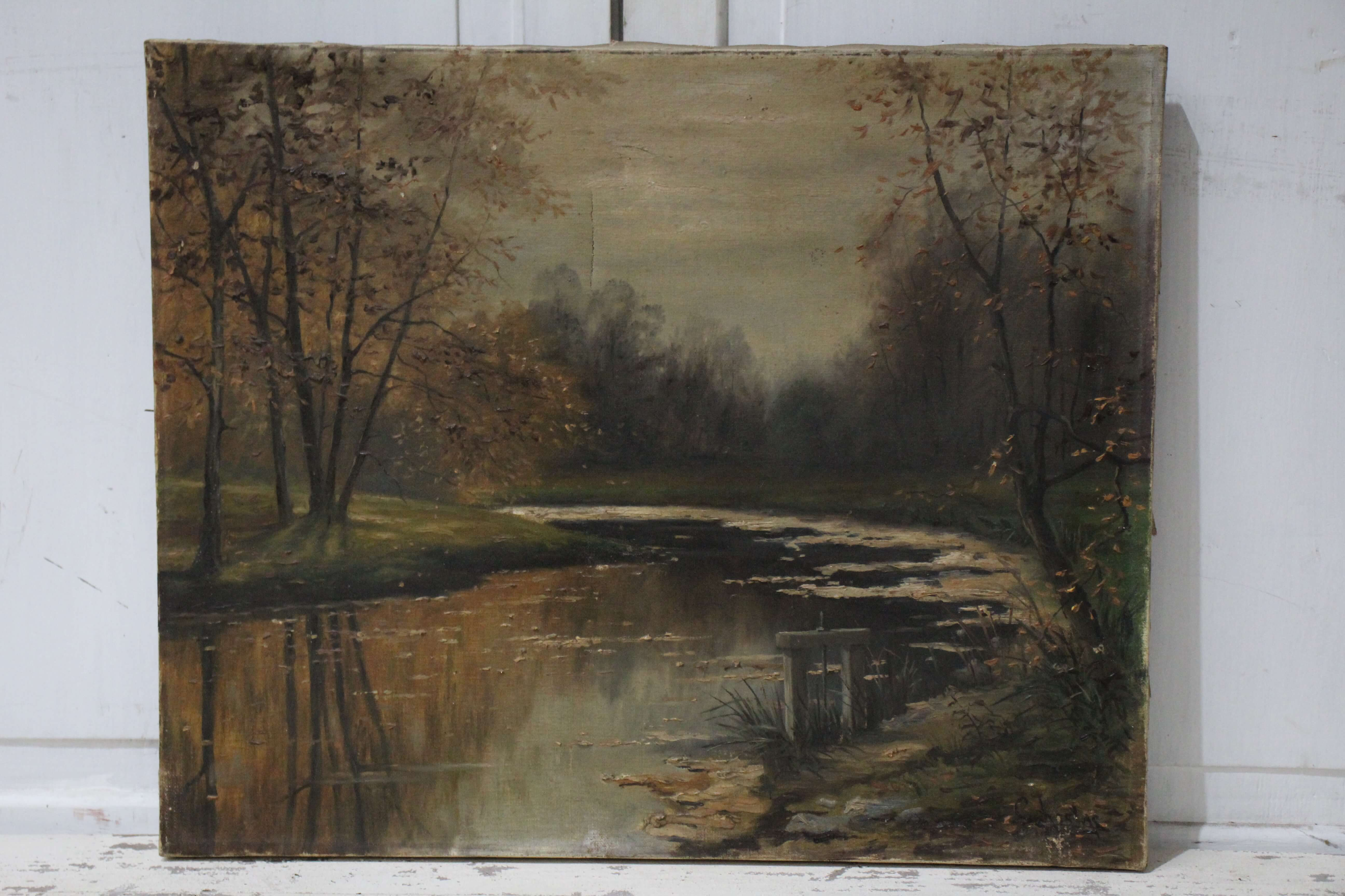 French Autumn Water Scene