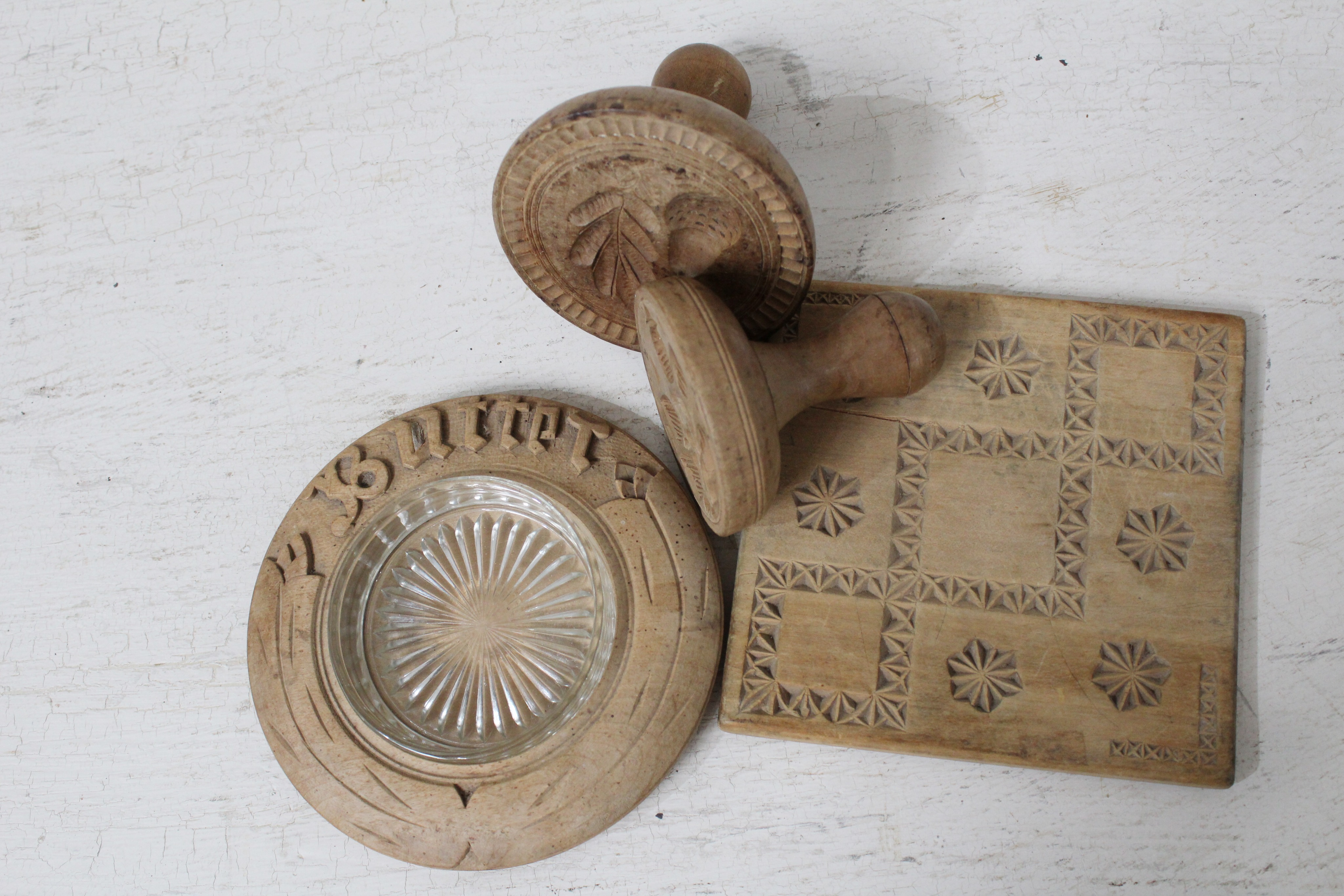 Butter Dish and Stamps