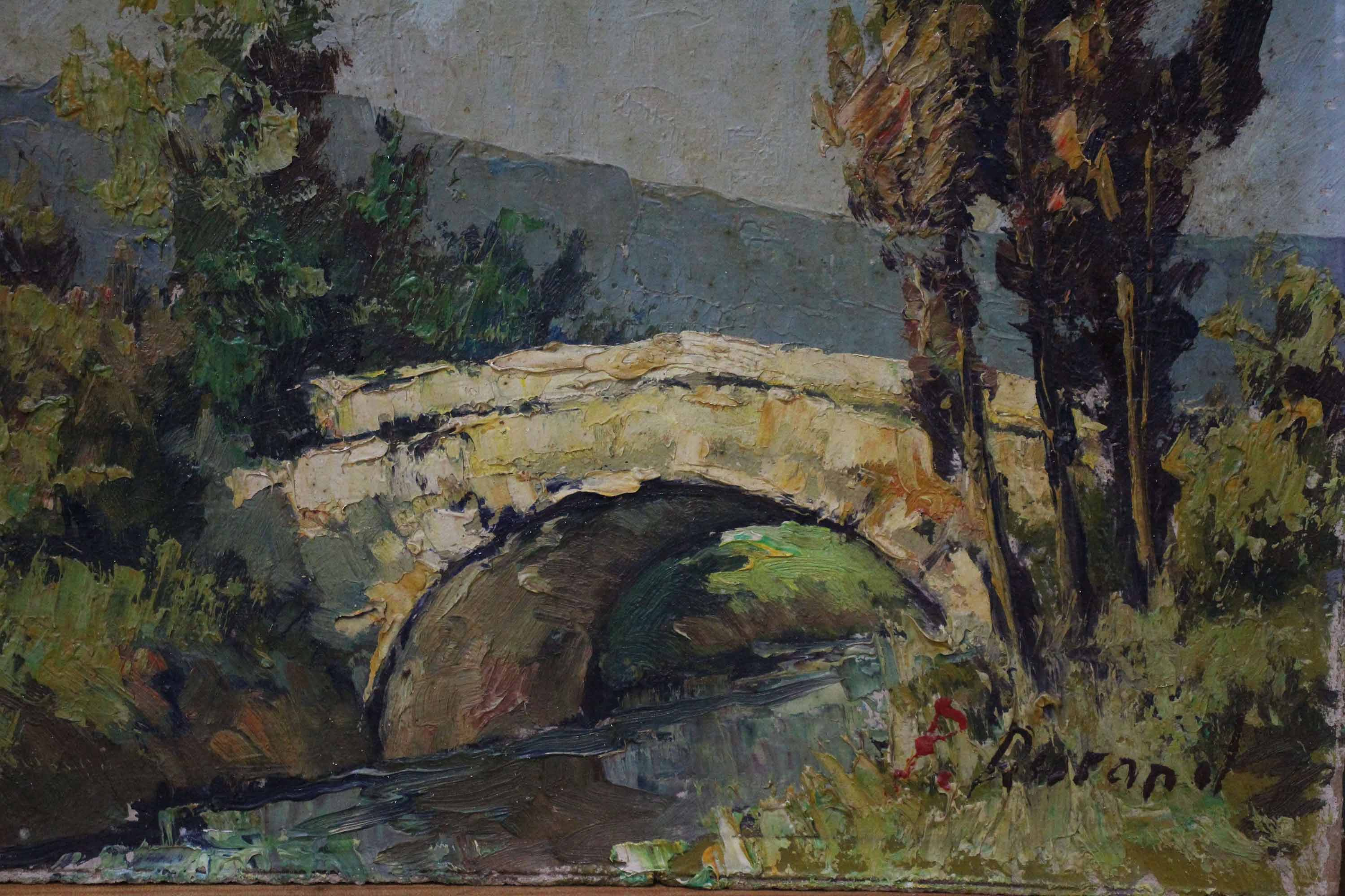 Oil Painting On Board Bridge