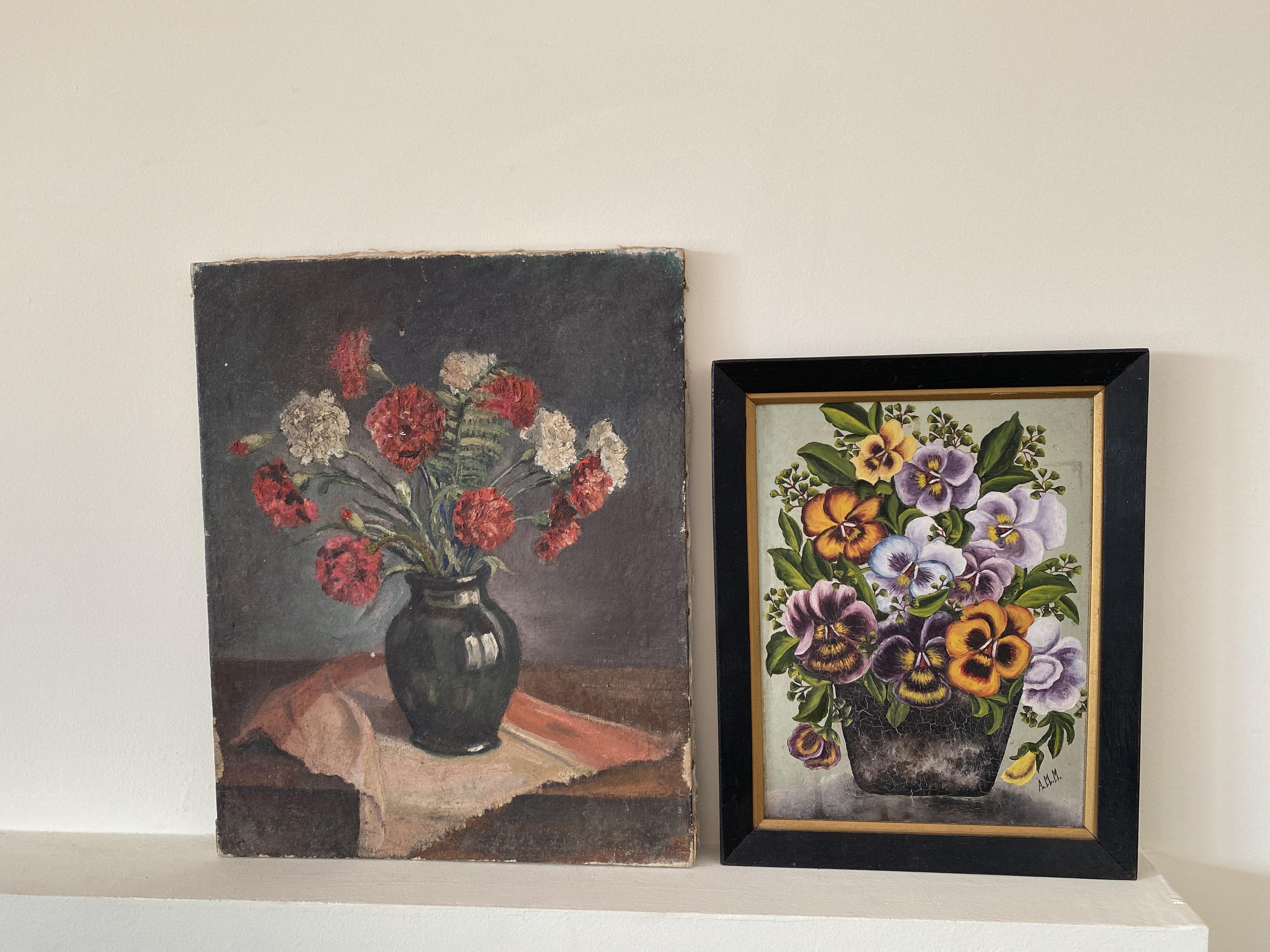 Framed Floral Pansy