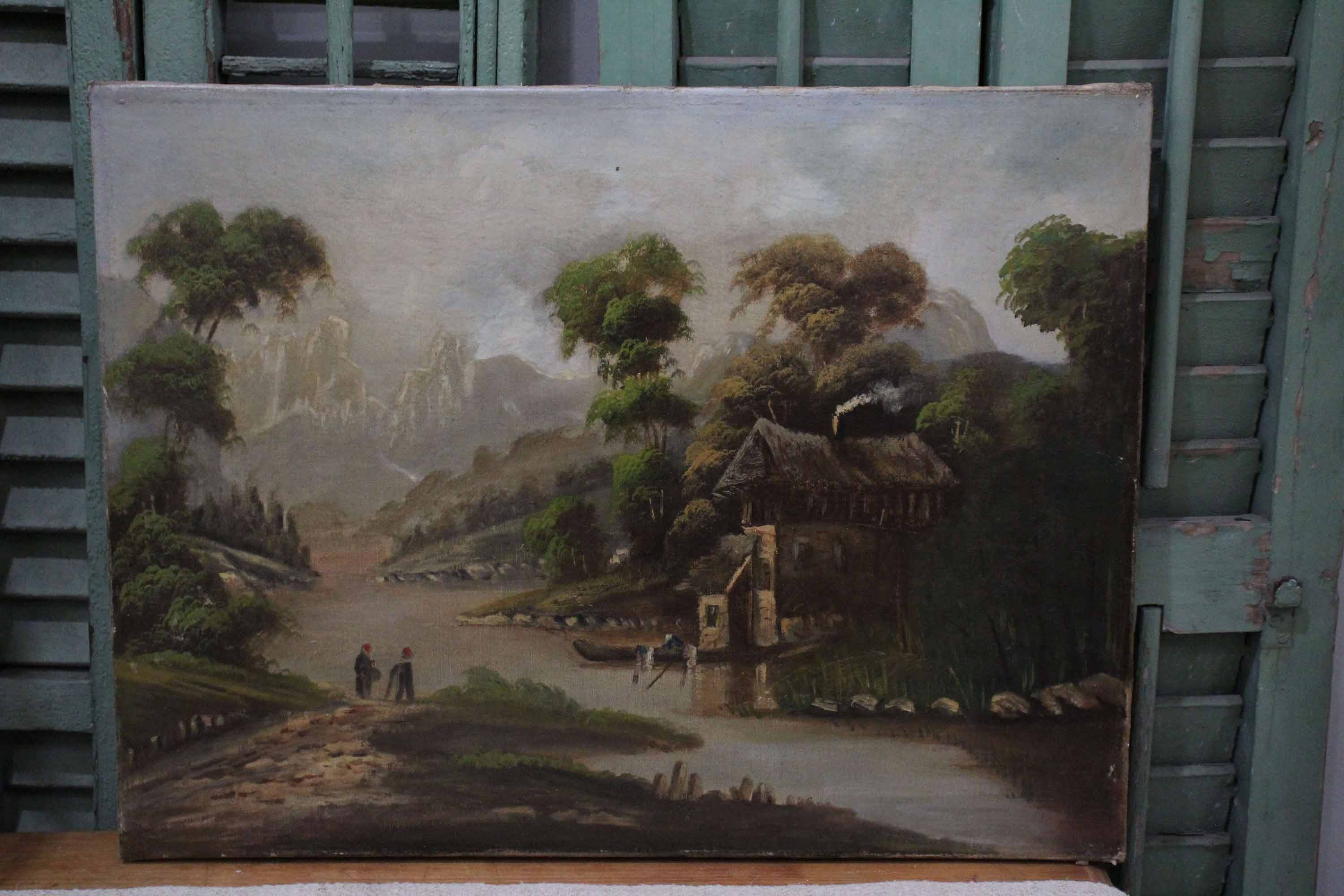 French Rural Oil Painting