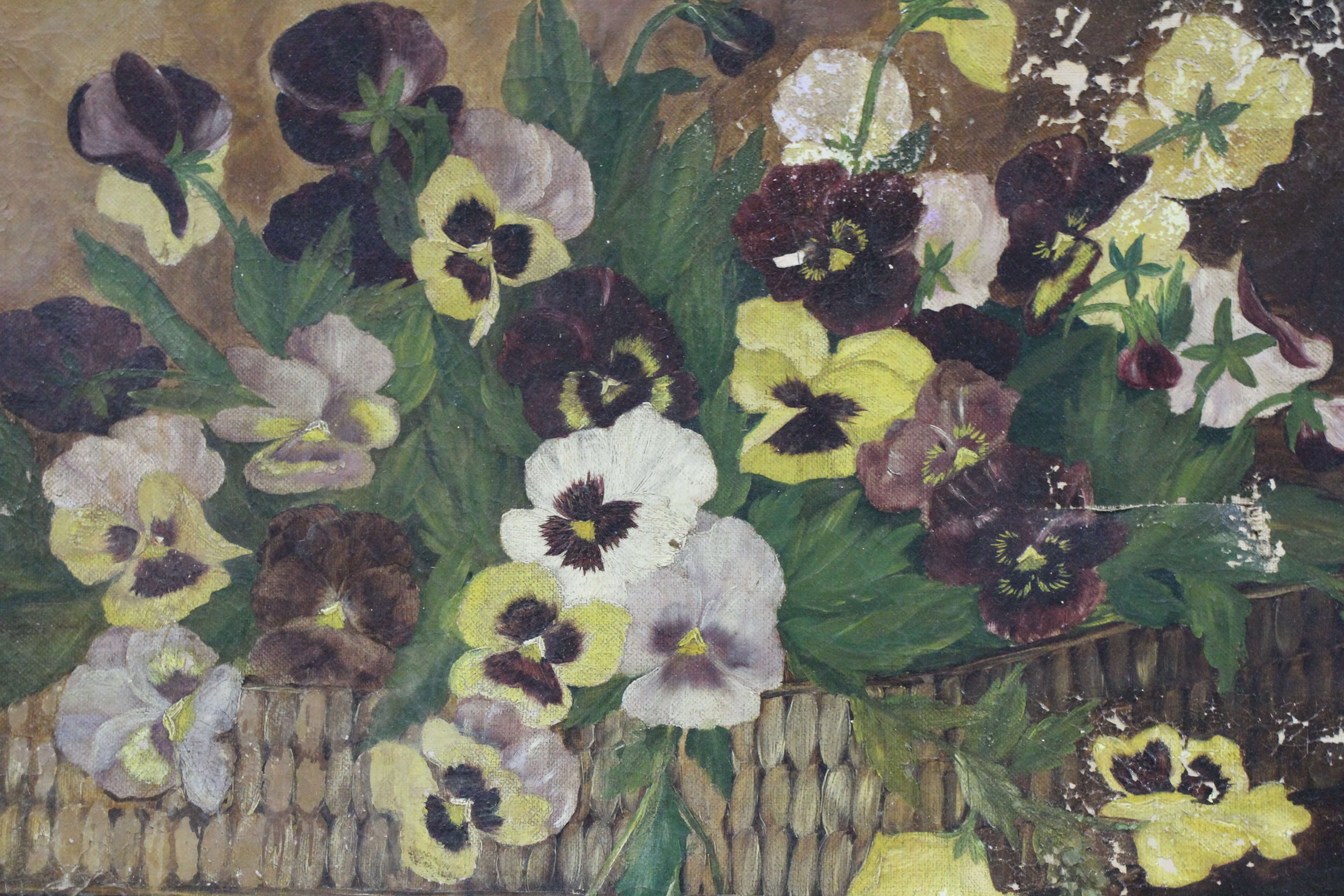 Pansies Oil Painting