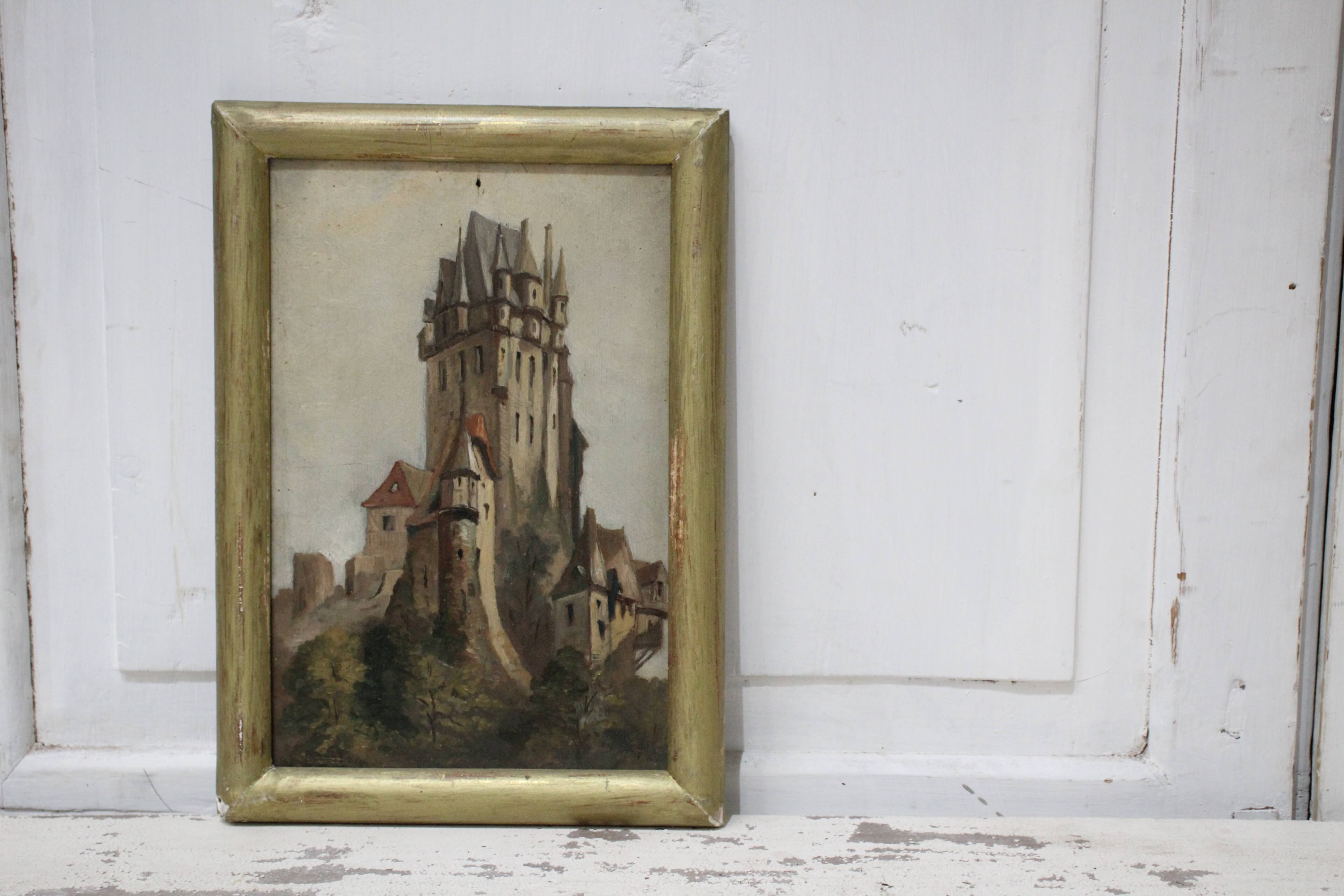 Oil Painting of Castle