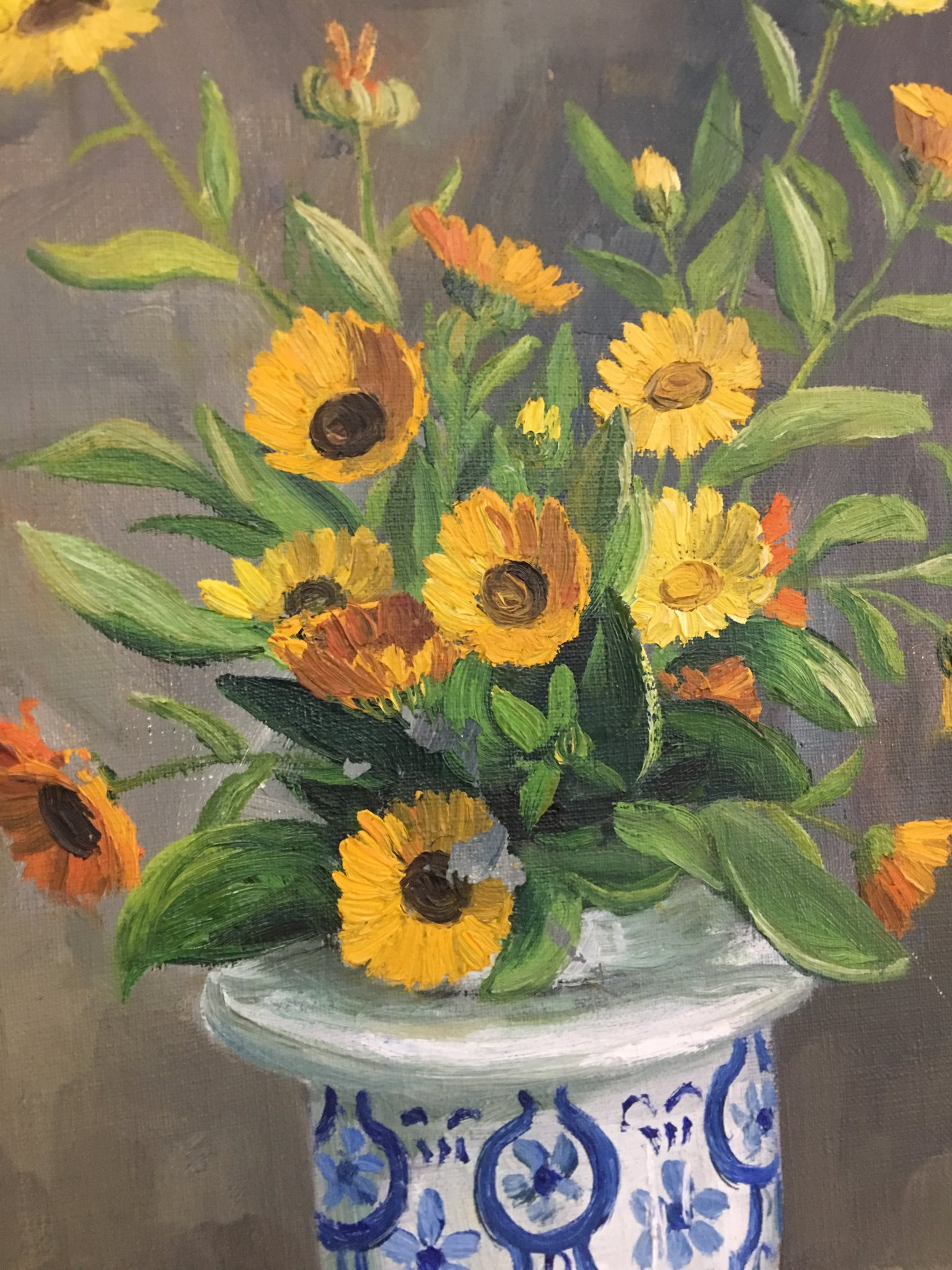 1960's Floral Oil Paintings