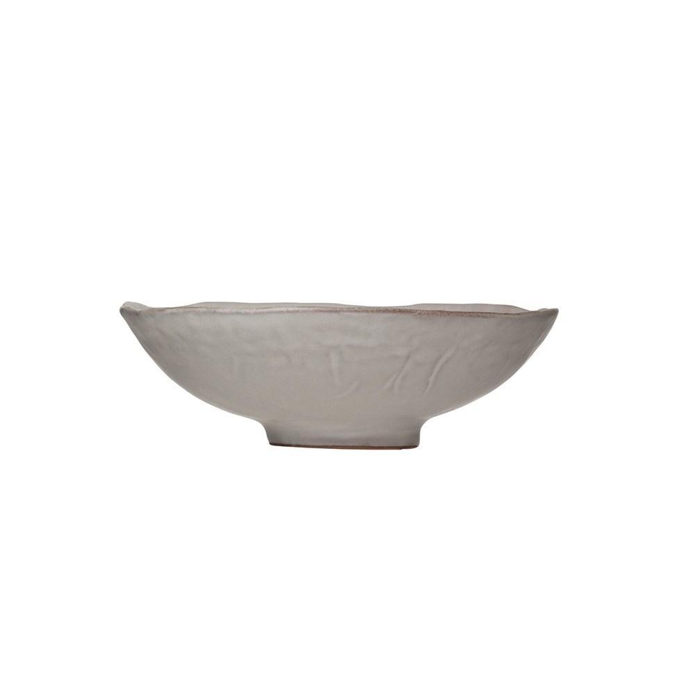Matte White Stonewear Bowl