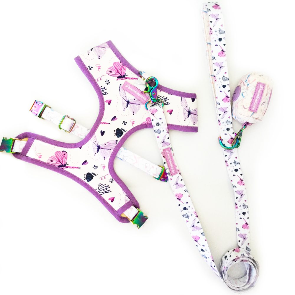 French Bulldog dog harness set leash and poop bag made by Frenchiestore pet supply