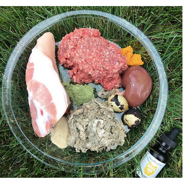 #79 CBD النفط فكرة وجبة الكلب الغذاء الخام