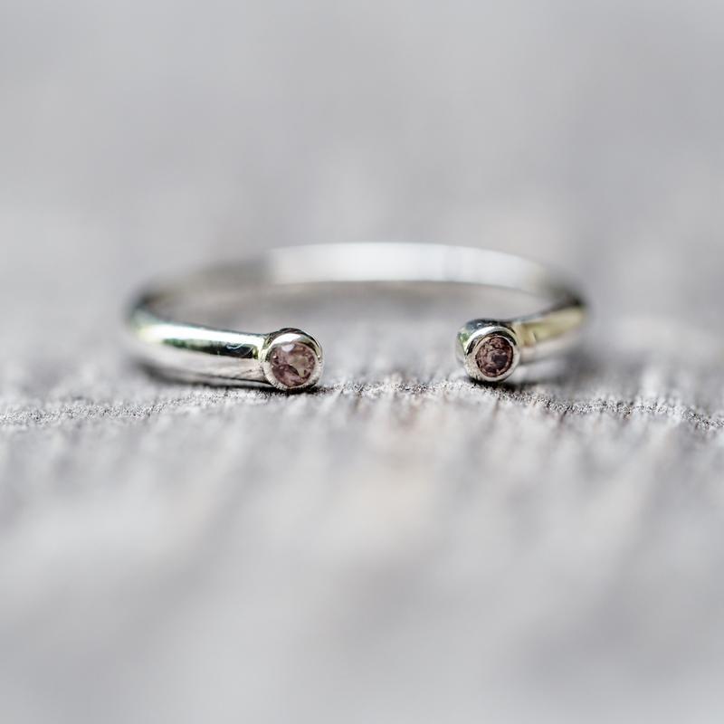 Open Garnet Ring