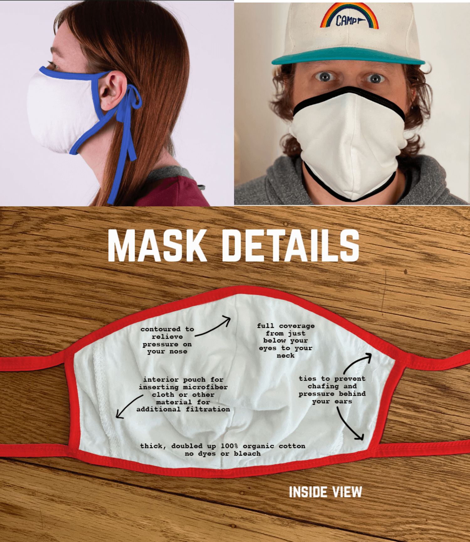 Two Tone 4 ply Camp Collection Mask