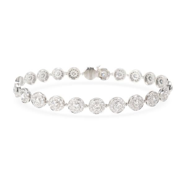 Tiffany & Co. Circlet Diamond Bracelet in Platinum 2.57 CTW