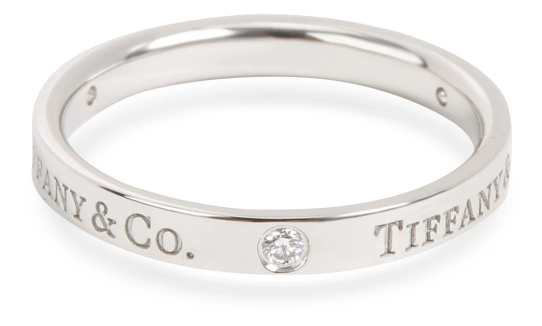 Tiffany & Co. Diamond Band Ring in Platinum 0.07 CTW
