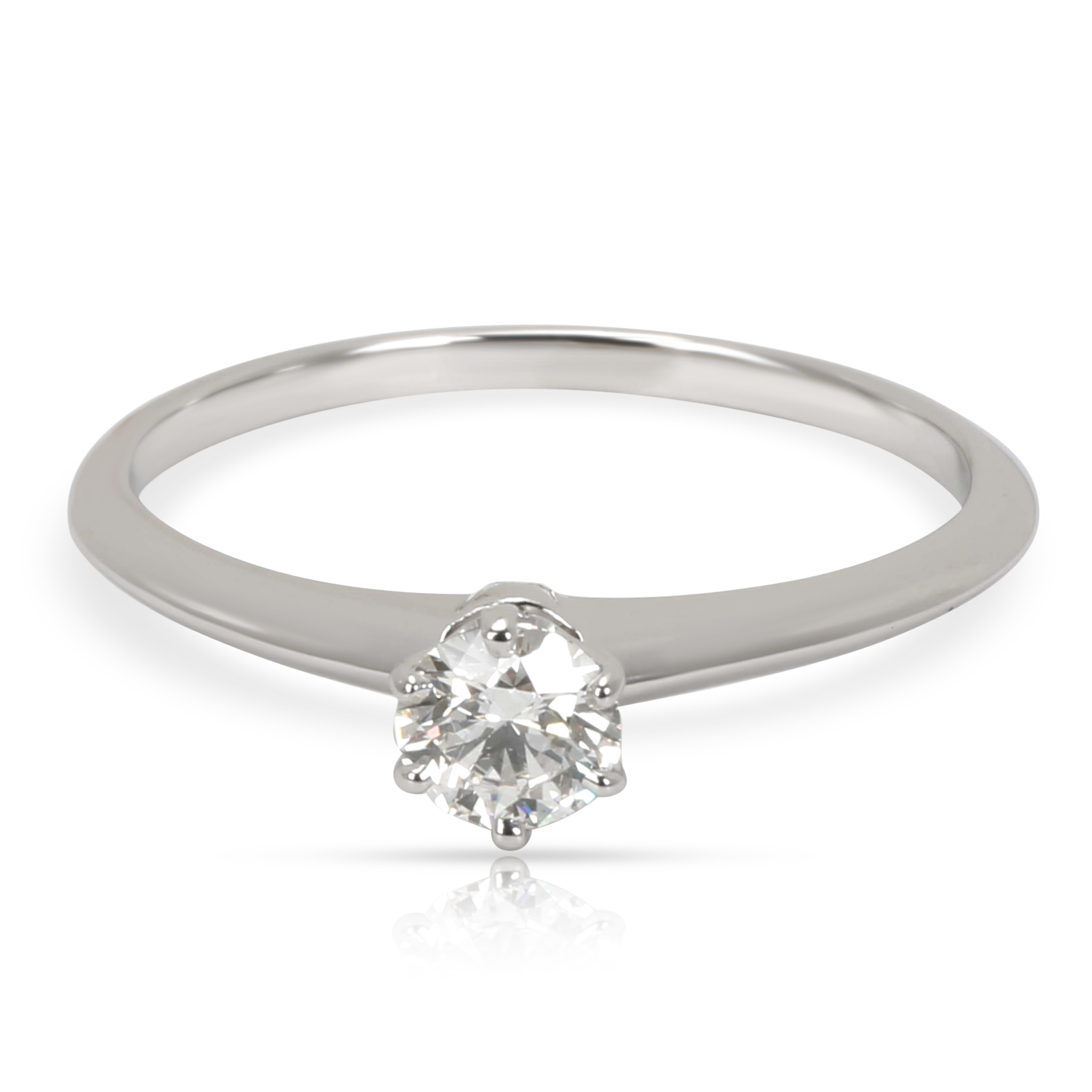 Tiffany & Co. Solitaire Diamond Engagement Ring in Platinum I VS1