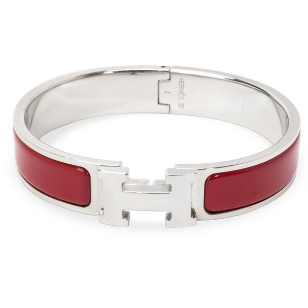 Hermes Vintage Caleche Enamel Bangle Bracelet