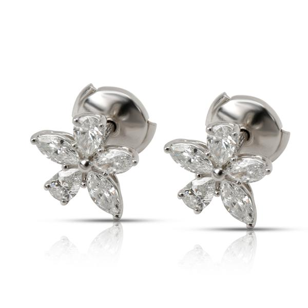 Tiffany & Co. Victoria Diamond Earrings in Platinum (0.96 CTW)