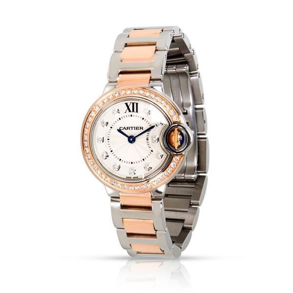 4. Cartier Ballon Bleu W3BB0009 Women's Watch in 18kt Stainless Steel/Rose Gold