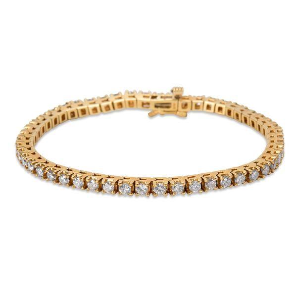 Diamond Tennis Bracelet in 14KT Yellow Gold (4.00 CTW)