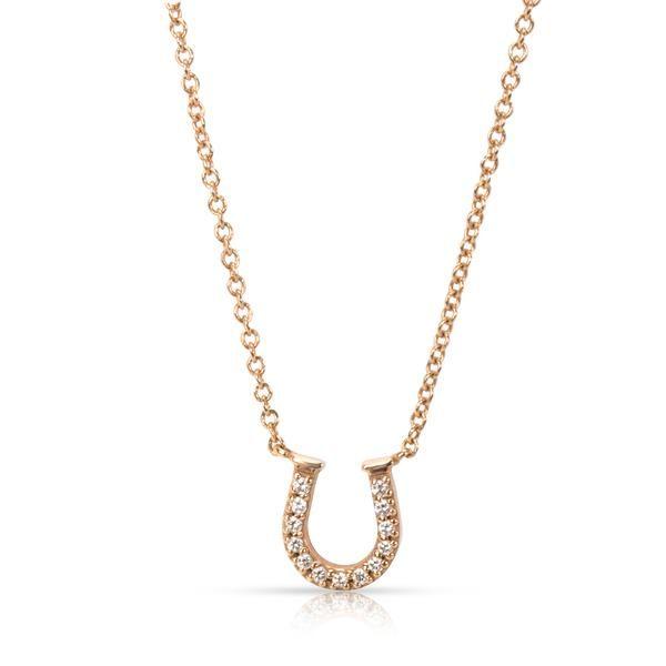 Tiffany & Co. Metro Horseshoe Diamond Necklace in 18K Rose Gold (0.03 CTW)
