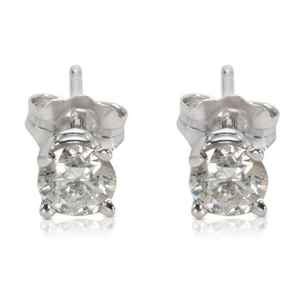 Diamond Studs Earrings in 14K White Gold (0.65 CTW)