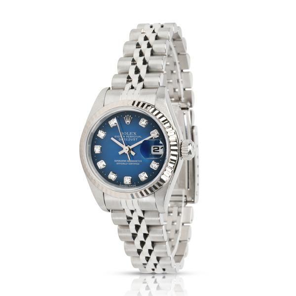 Rolex Datejust 69174 Women's Watch in 18kt White Gold/Steel