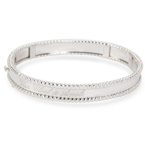 Van Cleef & Arpels Perlee Signature Bangle in 18K White Gold