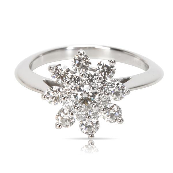 Tiffany & Co. Diamond Flower Ring in Platinum (0.55 CTW)