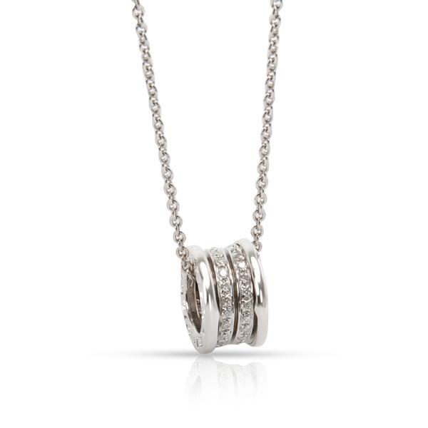 Bulgari B Zero 1 Diamond Necklace in 18K White Gold 0.4 CTW